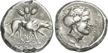 Eryx. Didrachmon, 420-416. Aus Auktion Gorny & Mosch 215 (2013), 681.