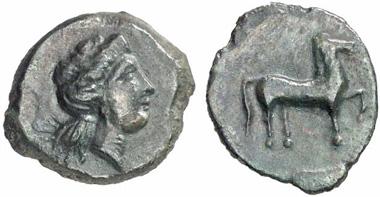 Eryx. Bronze coin, 400-340. From Künker auction sale 133 (2007), 7139.