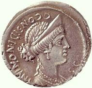 C. Considius Nonianus. Denarius, 56 BC. From Wyprächtiger collection / From MoneyMuseum collection.