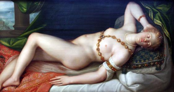 Resting Venus by Dirck de Quade van Ravesteyn. KHM. Source: Wikipedia.