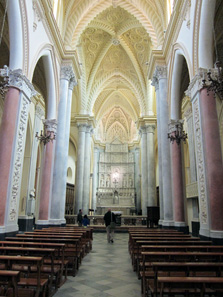 The Duomo dell'Assunta in Erice: An architectural disaster (if you ask me). Photo: KW.