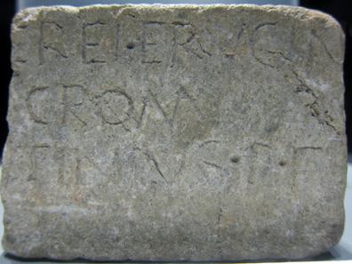 Inscription dedicated to the Venus Ericina; first line: EREI ERVCIN. Photo: KW.