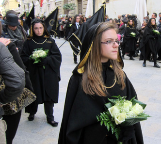 Scenes from the passion procession. Photo: KW.
