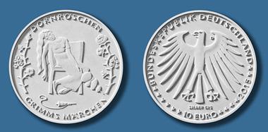Die neue Münze zu Dornröschen. © Bundesministerium der Finanzen.