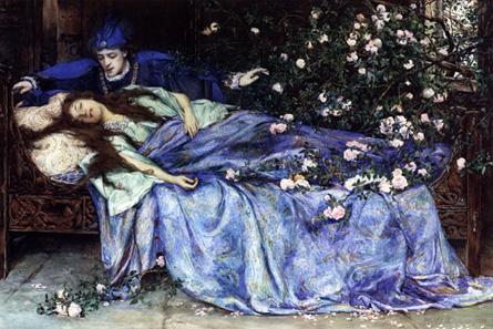 Dornröschen, Aquarell von Henry Meynell Rheam (1899).