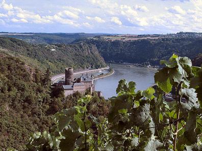 Blick auf Burg Katz, ebenfalls Teil des UNESCO Welterbes Oberes Mittelrheintal. Quelle: Felix Koenig/ http://creativecommons.org/licenses/by-sa/3.0/deed.en.