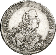 Frederick II of Prussia. Piaster, Aurich / Kleve, no date. (1751/52). Old. 368. Kluge 323. From auction sale Künker 250 (2nd July 2014), 2752. Estimate: 3,000 euros.