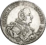 Friedrich II. von Preußen. Piaster, Aurich / Kleve, o. J. (1751/52). Old. 368. Kluge 323. Aus Auktion Künker 250 (2. Juli 2014), 2752. Schätzung: 3.000 Euro.