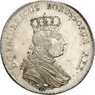 Frederick II of Prussia. Speciesthaler, Berlin, 1755. Old. 369. Kluge 318. From auction sale Künker 250 (2nd July 2014), 2753. Estimate: 30,000 euros.