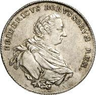 Friedrich II. von Preußen, Albertustaler 1767, Berlin. Old. 373. Kluge 322.2. Aus Auktion Künker 250 (2. Juli 2014), 2758. Schätzung: 4.000 Euro.