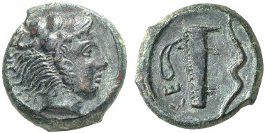 Selinus. Bronze-Hemilitra, 415-409. From Künker auction sale 133 (2007), 7237.