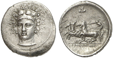 Selinus. Hemidrachm, 415-409. From Gorny & Mosch auction sale 211 (2013), 75.