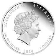 Australia/ 1 AUD/ 1 oz/ Silver 999/ 40.6 mm/ Design: Wade Robinson/ Mintage: 3,000.