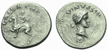 130: Galba. Denarius, Tarraco, circa April-late 68. RIC 2. Good very fine. Starting bid: GBP 1,000.