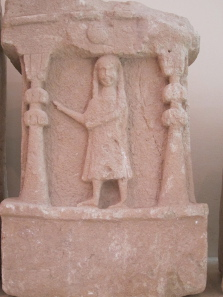 One of the tophet's tomb steles. Photo: KW.