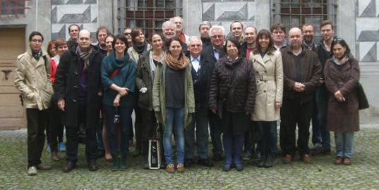 Die Gruppe in Schloss Ambras.