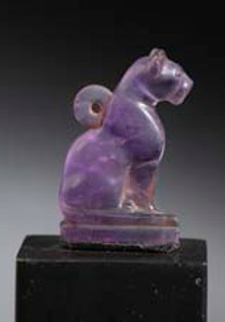 Egyptian amethyst amulet. Late Dynastic Period 25th-31st Dynasty, 715-332 BC. Height: 2.5 cm. Provenance: Private collection France, acquired 1978. Asking price: £35,000.