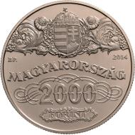 Hungary/ 2,000 HUF/ 37 mm / 23.7 g/ Mintage: 5,000.
