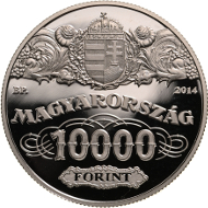 Silver version. Hungary/ HUF 10,000/ Silver .925/ 37 mm / 24 g/ Mintage: 5,000.