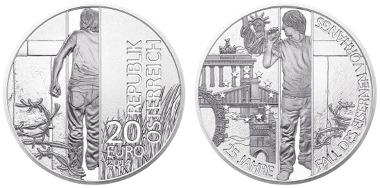 Österreich/ 20 Euro/ Silber 900/ 20g/ 34mm/ Design: Herbert Waehner/ Auflage: 50.000.