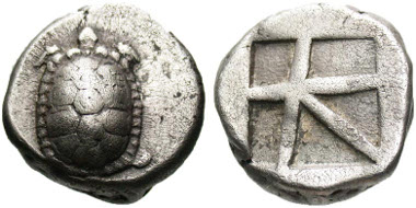 1: Islands off Attica, Aegina. Ca. 445-431. Stater. SNG Cop 516. VF. Estimate: $1,250.