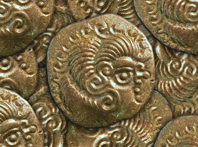 Detail of coins from the hoard.