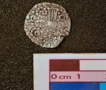 New items are being found continuously. This coin discovered on 2 June 2014 changed the date burial of the hoard from 50 BC to 40 BC.
