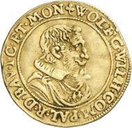 Die aus Jülich, Cleve und Berg sowie weiteren Fürstentümern der Region stammenden Münzen und Medaillen bilden ein interessantes Sammelgebiet, hier vertreten durch einen Dukaten von 1650 ... Foto: Caspar/Heinz W. Müller.