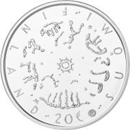 Finland / 20 euros / 925 silver / 25.5g / 38.6mm / Design: Pertti Mäkinen / Mintage: 5,000.