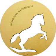 Mongolei/ 500 Togrog/ ½ oz/ Silber .925 / 38,61 mm/ Auflage: 2.500.