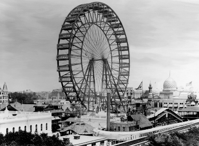 The original Ferris Wheel at the 1893 World Columbian Exposition in Chicago.