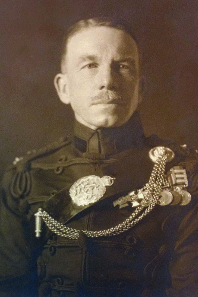 Lt, later Col, John Duncan 'Jack' Grant wearing his medals.