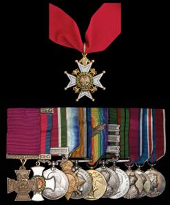 Grant's unique Tibet Victoria Cross medal group, estimate £200,000-250,000.