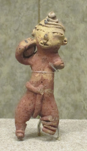 Perhaps the earliest depiction of a ball player. Tlatilco, Mexico, 3rd-4th cent. B. C. National Museum of Culture / Mexico City. Photograph: UK.