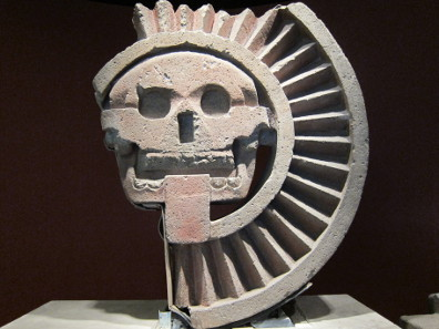The voracious sun. Teotihuacan. National Museum of Culture  / Mexico City. Photograph: UK.