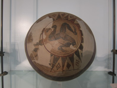 The oldest depiction of Sicily as triskelion. Photo: KW.