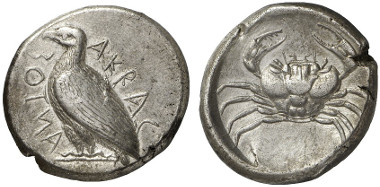 Akragas. Tetradrachm, ca. 471-430. From Gorny & Mosch auction sale 211 (2013), 48.