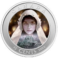 Lenticular technology produces impressive effects on the coin's reverse.