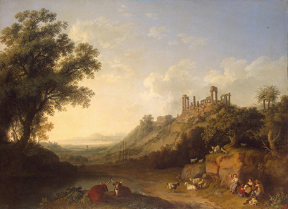 Valley of the Temples, oil painting by Jacob Philipp Hackert (1737-1807). Source: Wikipedia.