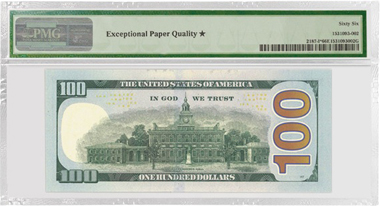 $ 100, FRN Minneapolis (2009). Also designated with star for exceptional paper quality.