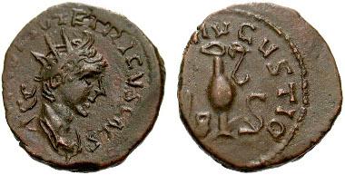 98: Tetricus II, Caesar - Barbarous Imitation. c. 270-275 AD. Billon Antoninianus. Ex-Alfredo De La Fe collection of barbarous coins. Estimate $60.