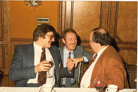 Coin dealers in the 1970ies: Harald Möller, Dieter Gorny and Peter Schulten.
