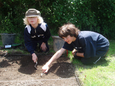 Young archaeologists.