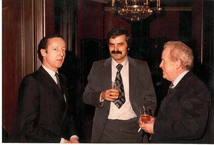 Coin dealers in the 1970ies: Franz Röderer, Johannes Diller and Heinz Friedrichs.