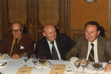Coin dealers in the 1970ies: Jacques Schulmann, Zlatko Tudjina, Dr Georgi Atanasov.