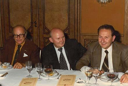 Münzhändler in den 70ern: Jacques Schulmann, Zlatko Tudjina, Dr. Georgi Atanasov.