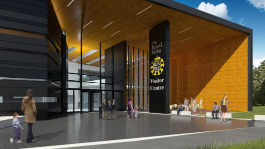 An artist's impression of The Royal Mint visitor centre.