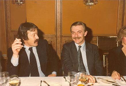 Coin dealers in the 1970ies: Georg Wendel and Peter Sauer.