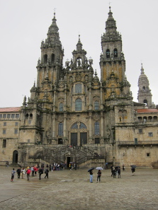 Cathedral of Santiago de Compostela. Photograph: KW.