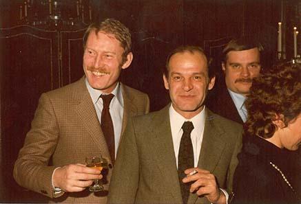 Münzhändler in den 70ern: Dieter Gorny, Heinrich Winter und Lutz Neumann.